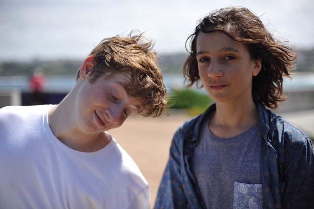 Two teenaged boys