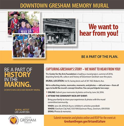 Gresham_Center_for_the_Arts_Downtown_Gresham_Memory_Mural