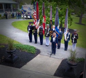 Color Guard at Historic Jordan Springs