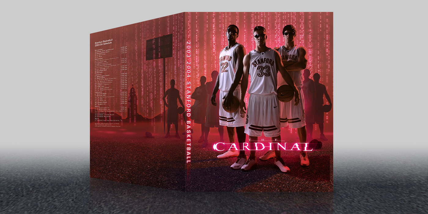 Stanford Basketball 2004 Media Guide Cover