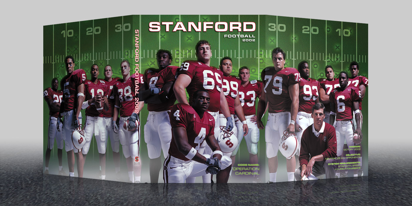 2002 Stanford Football Media Guide Cover