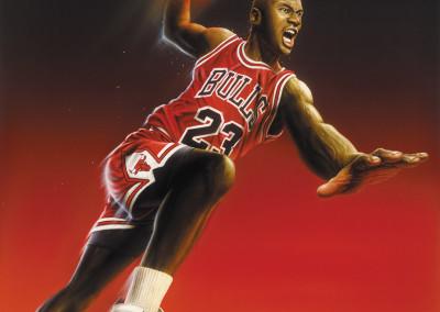 Michael Jordan Toy Package Illustration