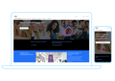 Watson Customer Engagement home page