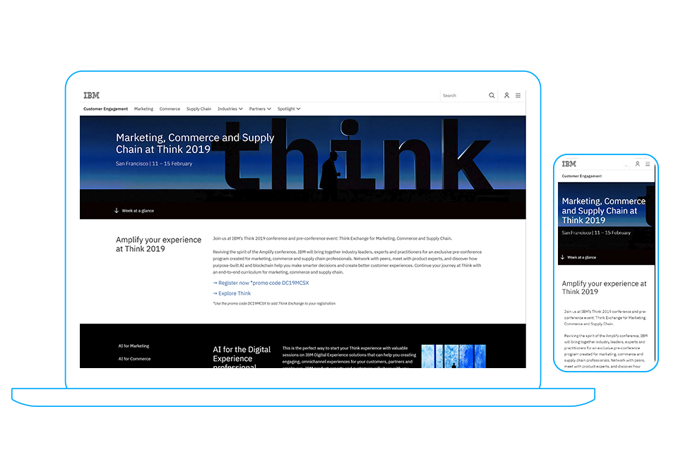 Think 2019 Landing Page