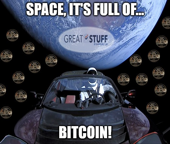 Space it's full of bitcoin Tesla meme big
