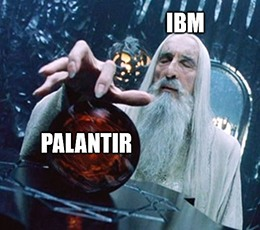 IBM Palantir AI team-up Saruman meme