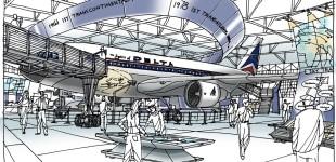 Delta Flight Museum sketch