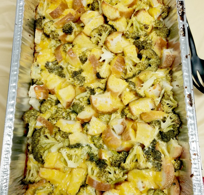 zoomed view of the cheese broccoli casserole recipe