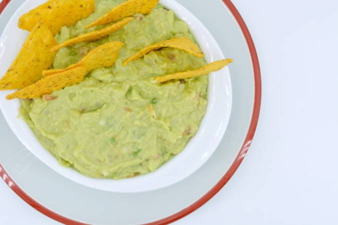 We're done with the homemade guacamole sauce