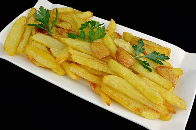 We serve and enjoy the delicious french fries