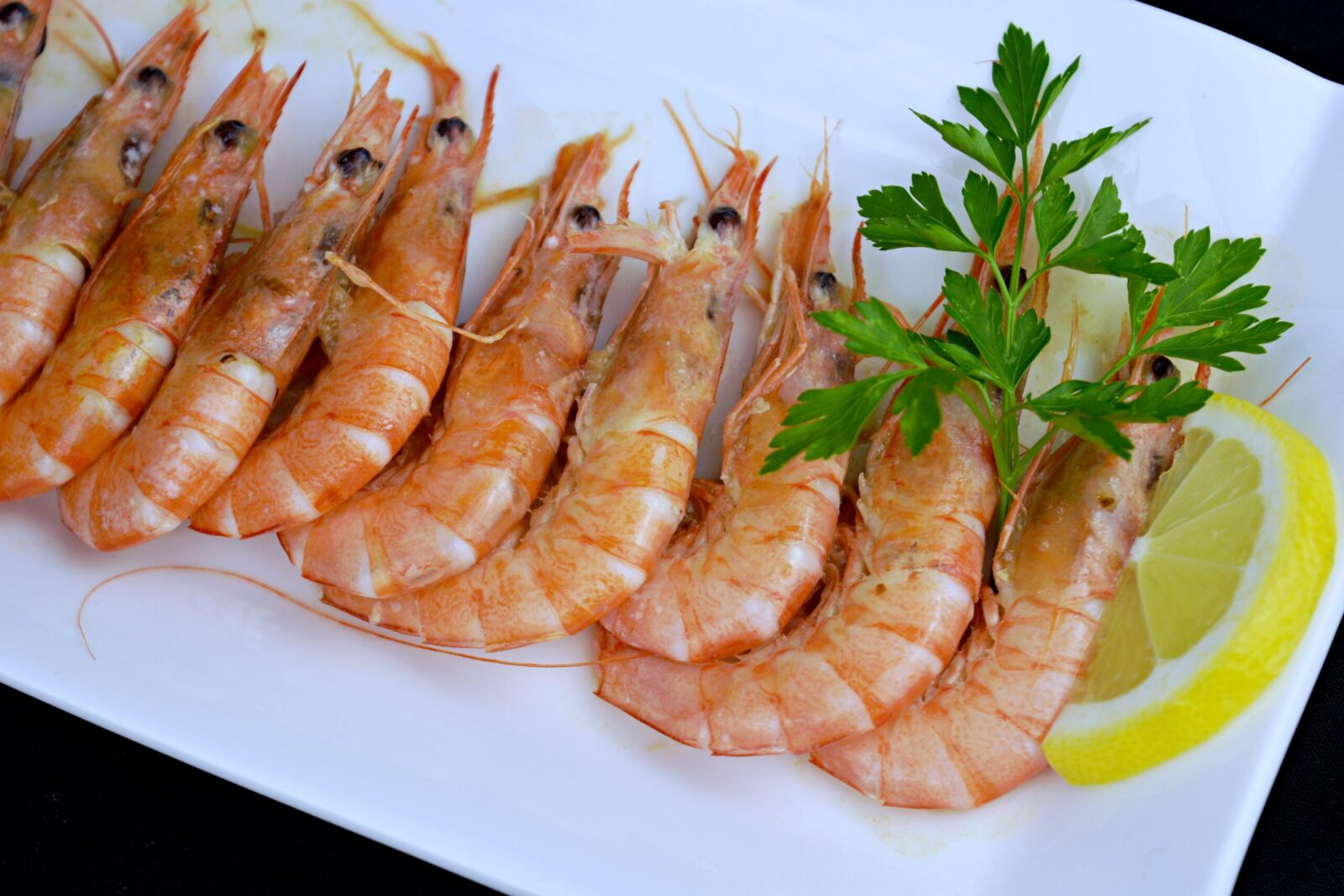 Grilled shrimp.  My family's recipe.