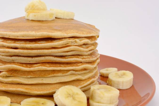 We are done with the homemade pancakes in 15 minutes