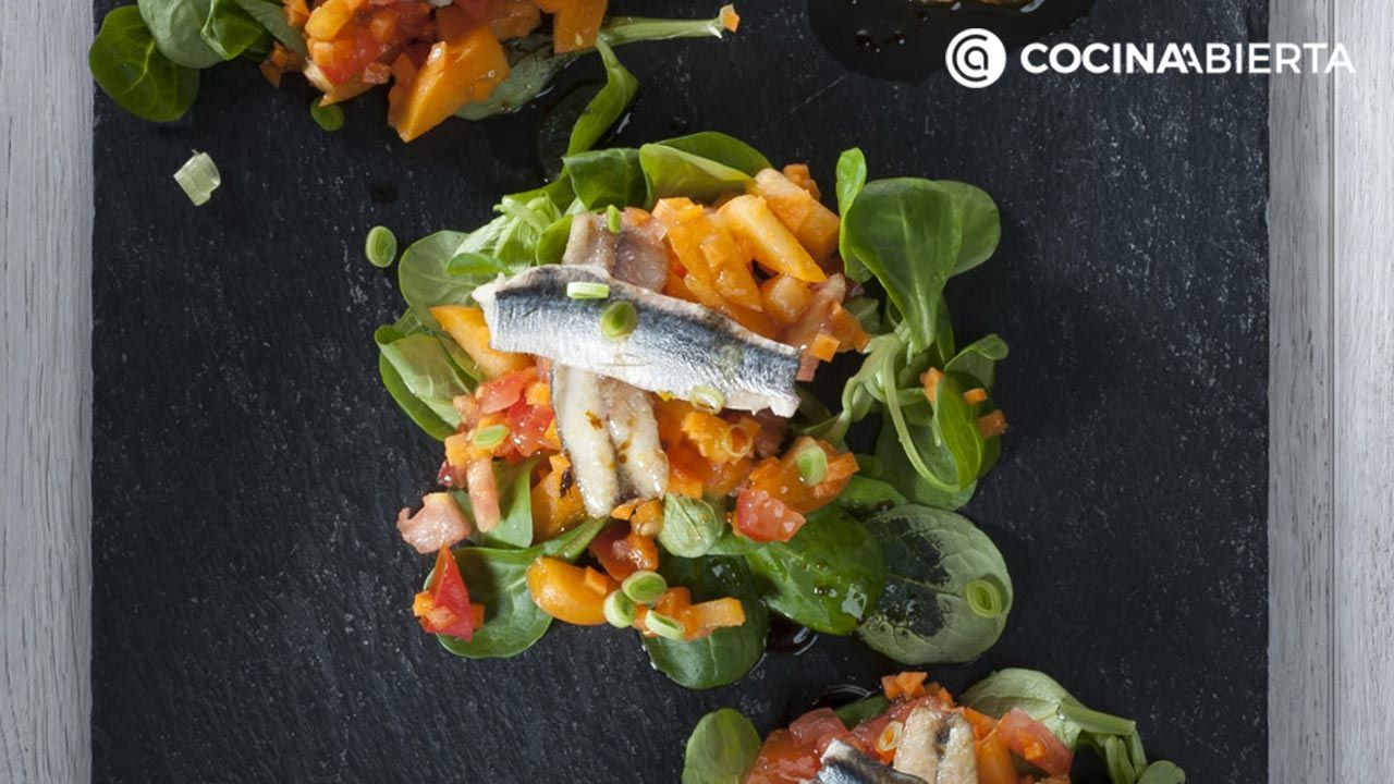 Anchovy and apricot salad recipe