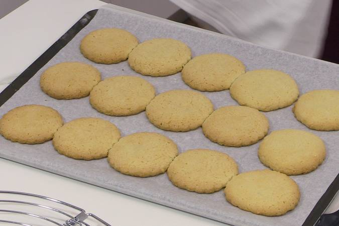 Remove the cookies from the oven and allow them to cool