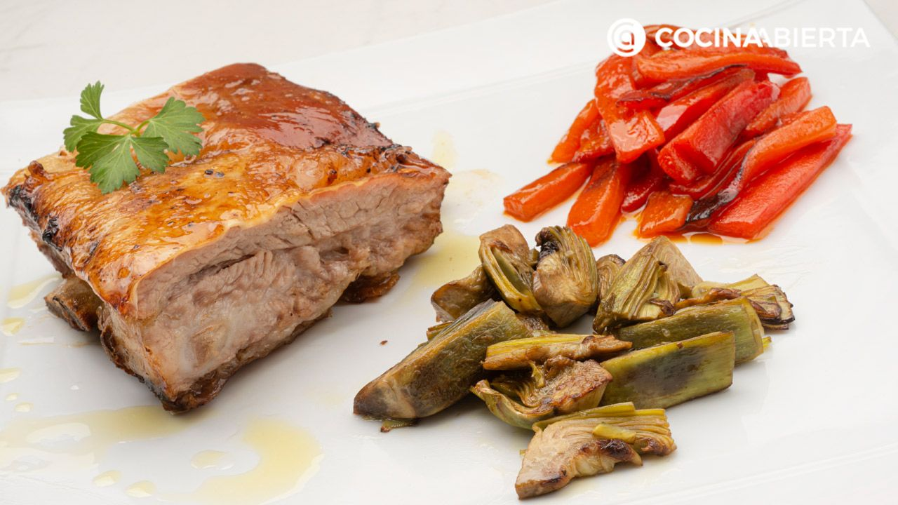 Beef rib with artichokes and peppers - Recipe by Carlos Arginiano in Open Kitchen - Hogarmania