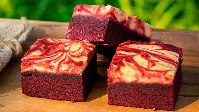 Red velvet desserts with natural beet color!  - Brownie