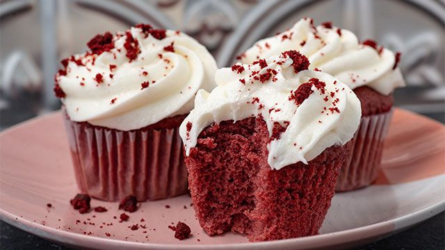 Red velvet desserts with natural beet color!  cupcakes