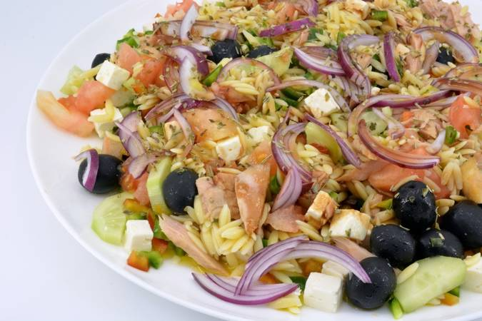 We have already finished the Greek salad