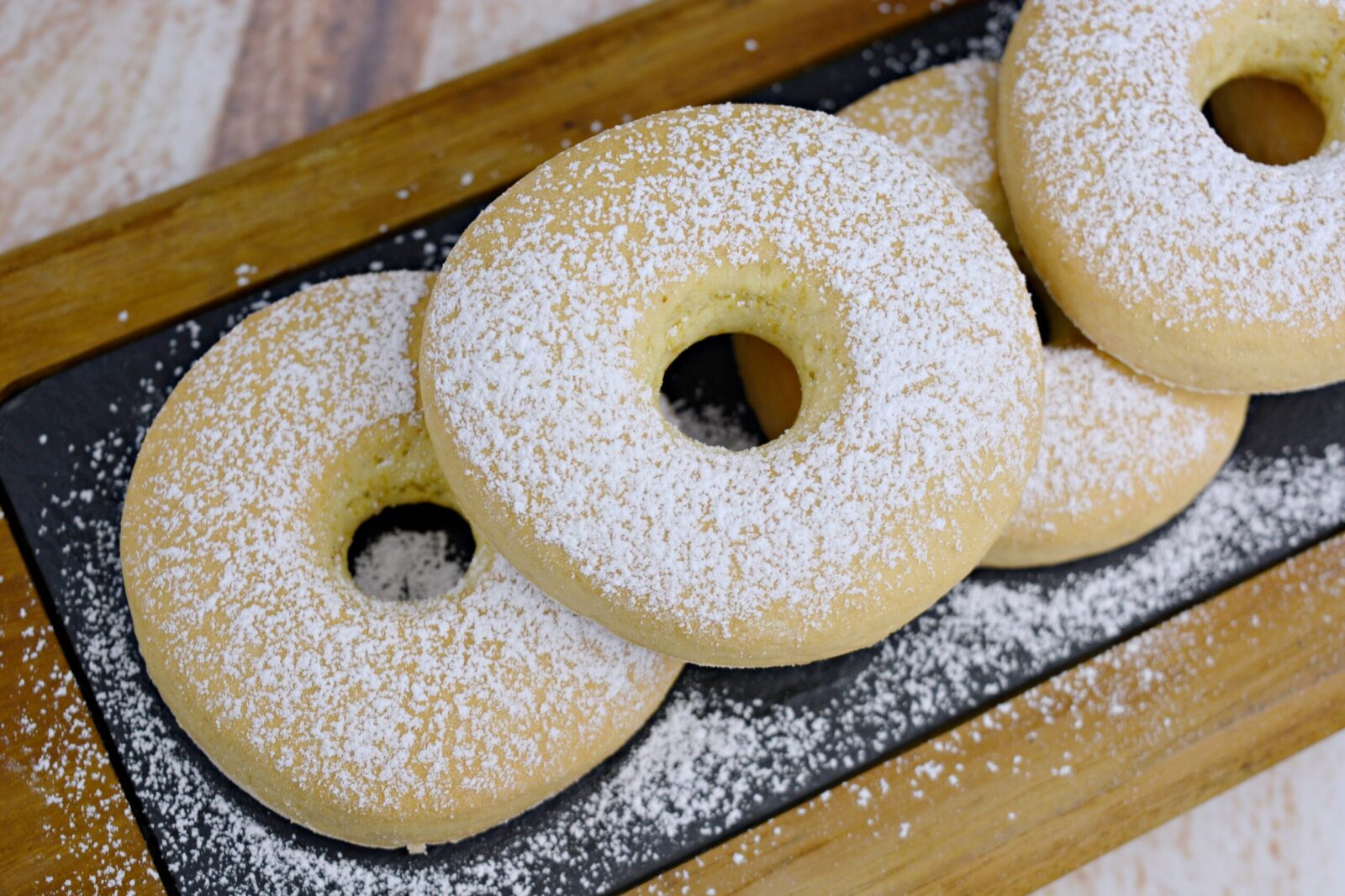 Homemade donuts with lemon