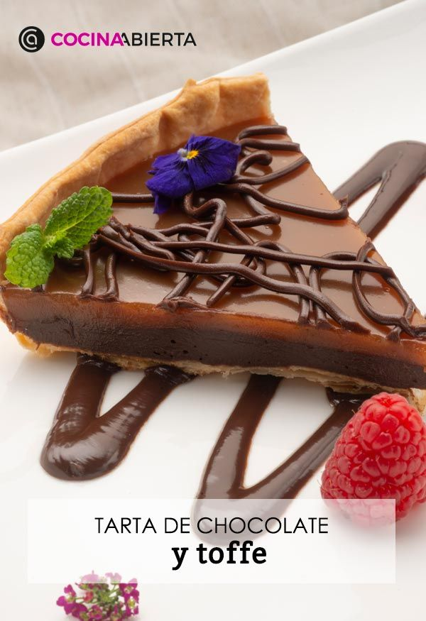 Cake with chocolate and toffee