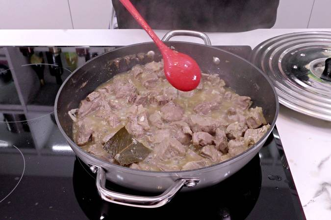 Add water and boil the fillet