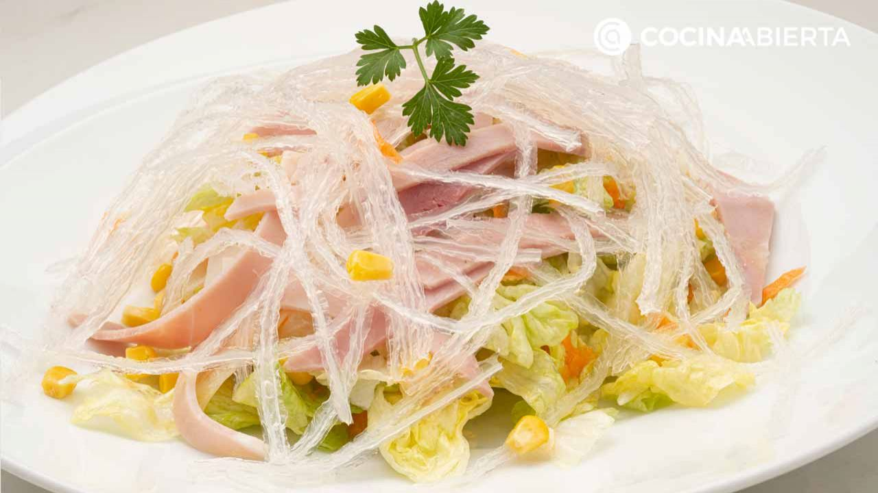 Chinese salad, recipe by Carlos Arginiano!  (and how to make a sweet and sour white sauce) - Hogarmania