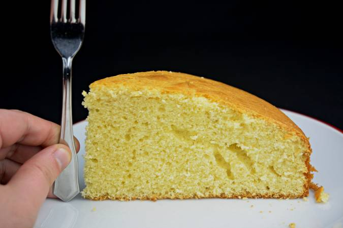 We just have to enjoy this delicious cake