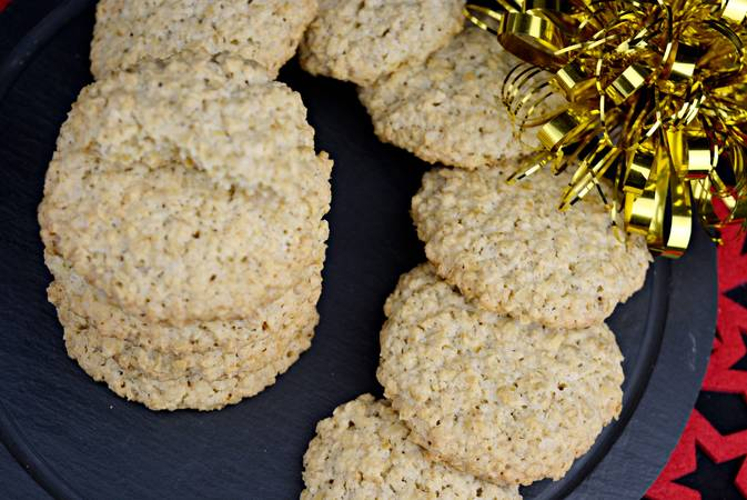 We're done with the homemade oatmeal cookies