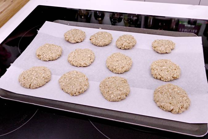Shape the cookies and place them on a tray