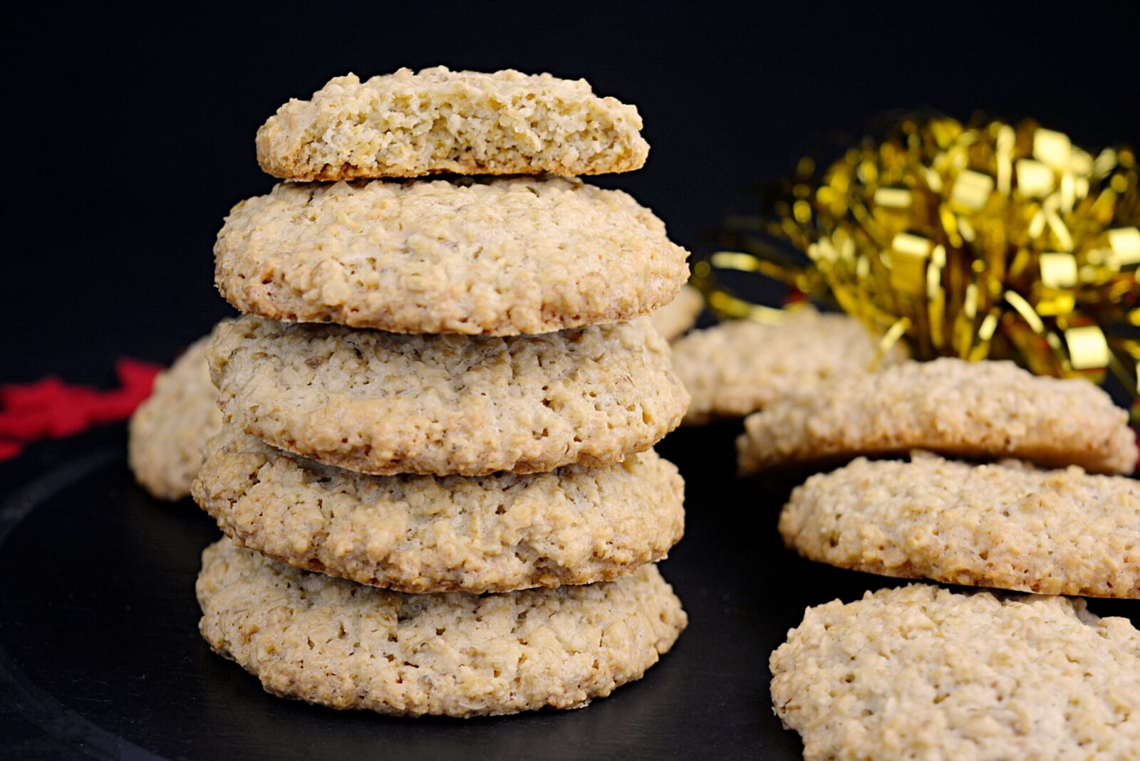 Homemade biscuits with oatmeal