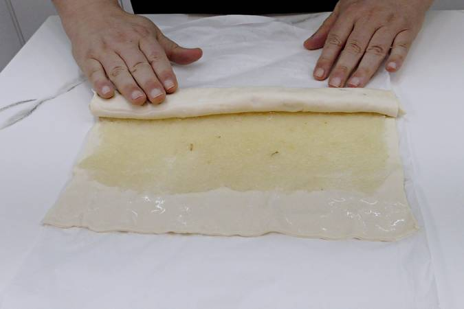 Roll out the puff pastry