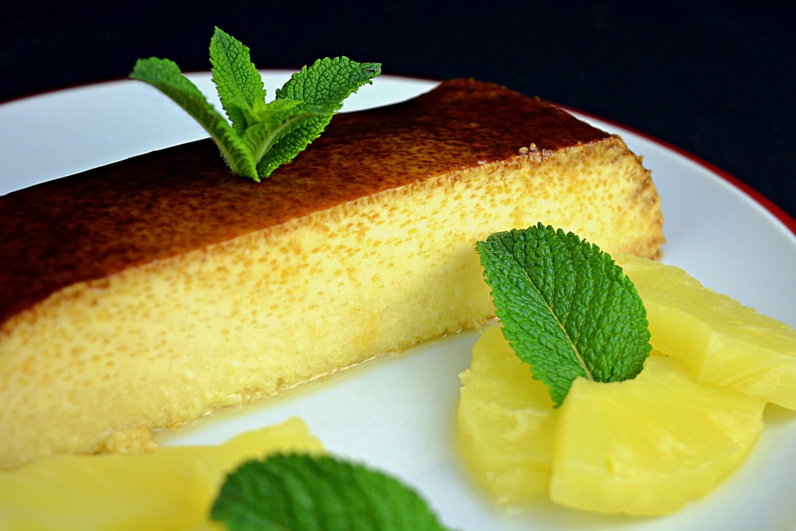 Pineapple with condensed milk