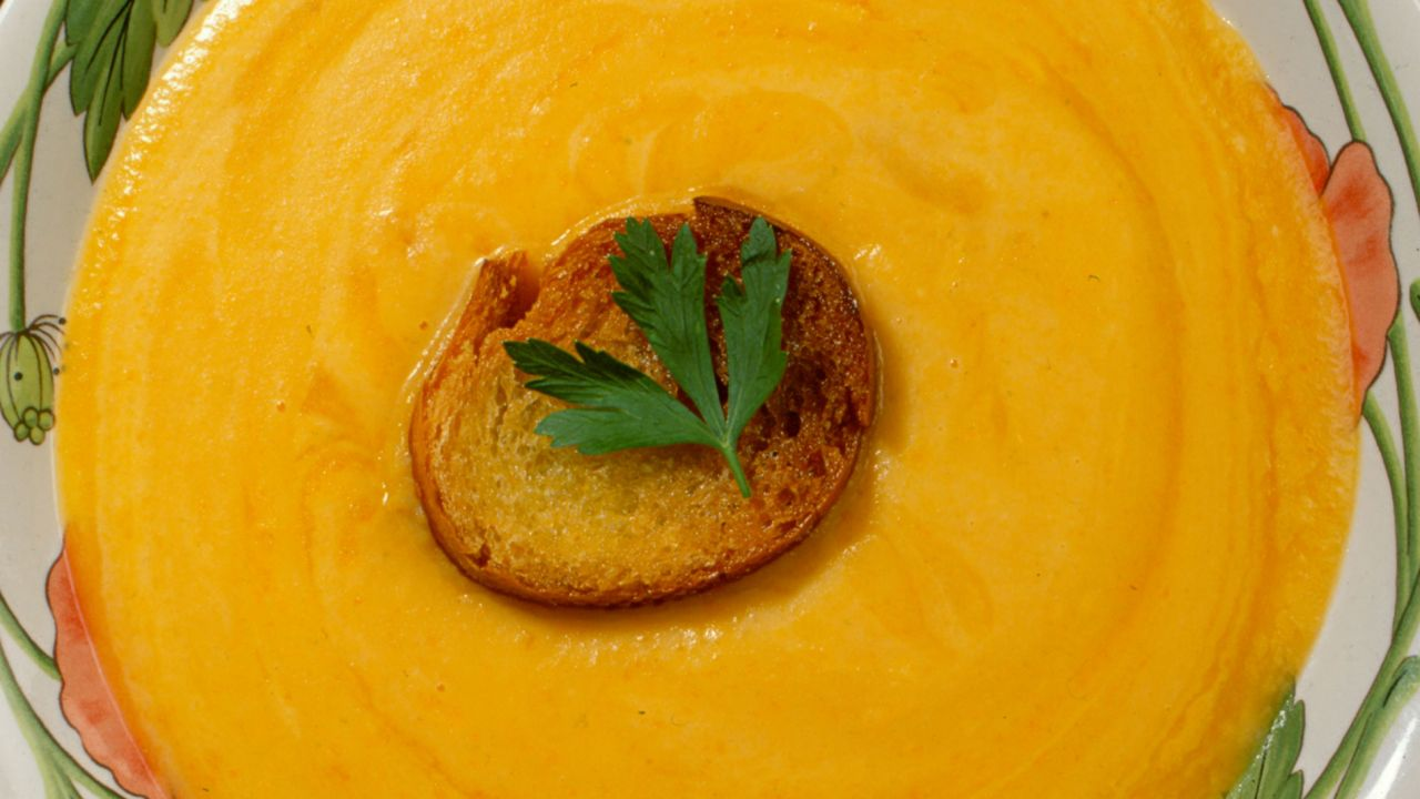 Recipe for Carrot Cream with Croutons - Carlos Arginiano
