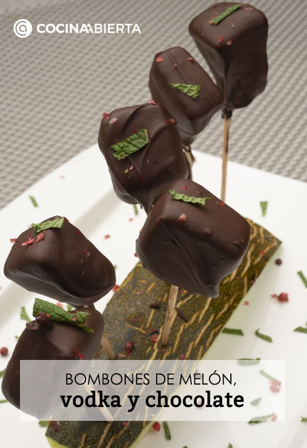 Melon, vodka and chocolate candies