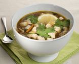 Miso soup with soba and tofu
