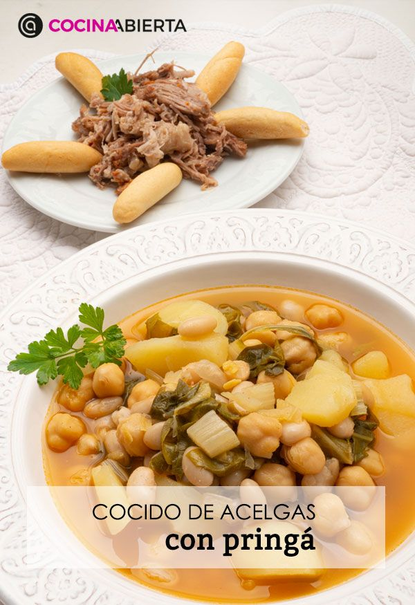 Chard stew with pring (in a quick pot), traditional Andalusian stew by Carlos Arginiano - Presentation