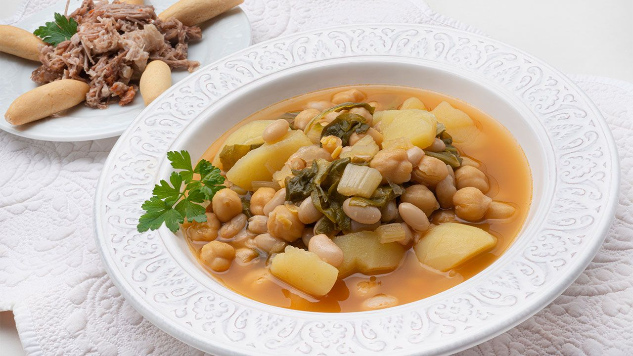 Chard stew with pring (in a quick pot), traditional Andalusian stew - Recipe by Carlos Arginiano