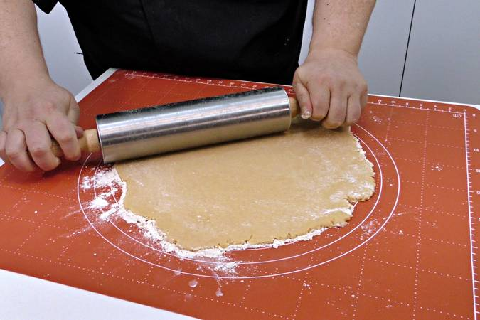 Once it cools, stretch the dough