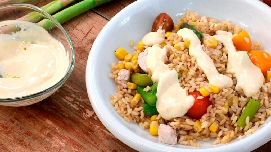 Brown rice salad in just 10 minutes!