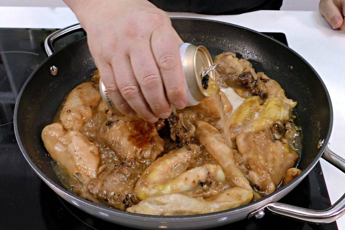 Step 4 of sweet and sour chicken with a beer recipe