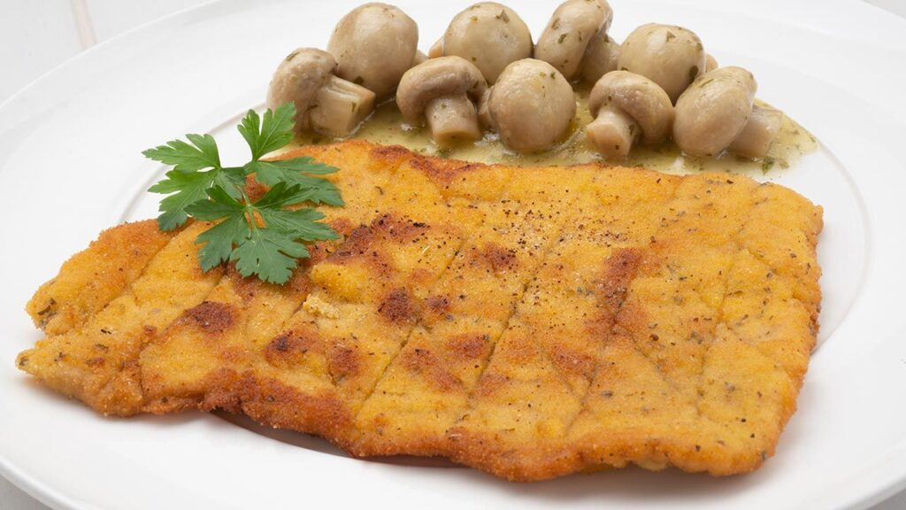 Pork escalopes with mushrooms in a sauce recipe - Karlos Arguiñano