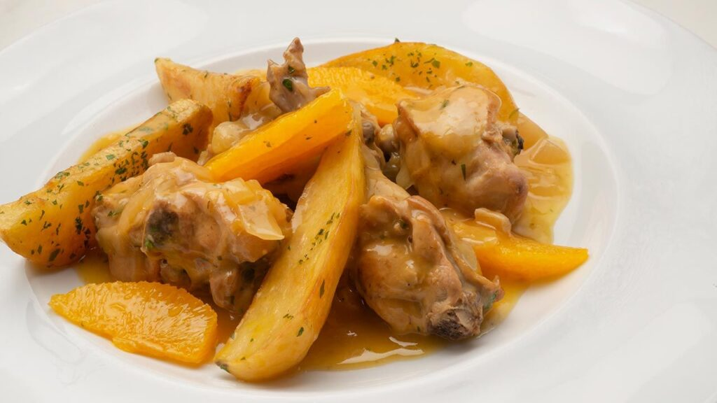 Rabbit recipe in orange sauce - Carlos Arginiano