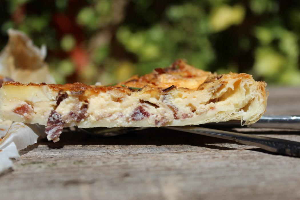 Cecina quiche with brie cheese