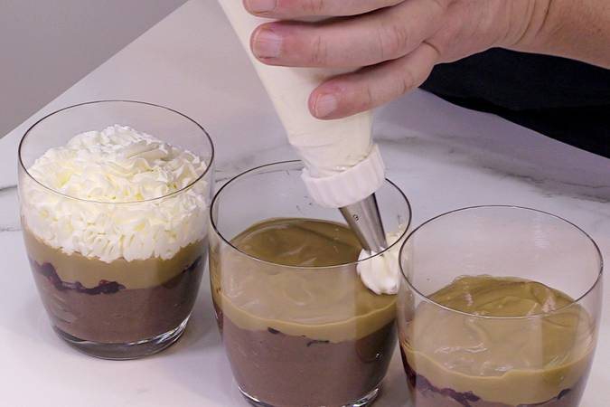 Add the coffee and cream