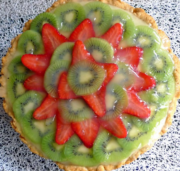 Fruit tart and confectionery cream