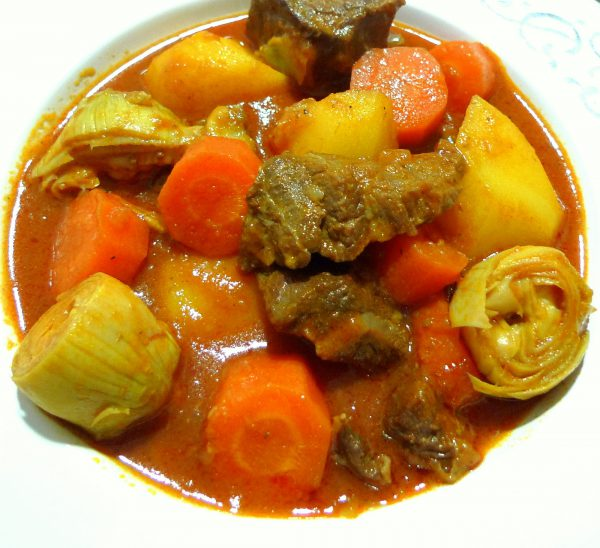 Recipe for beef stew with vegetables