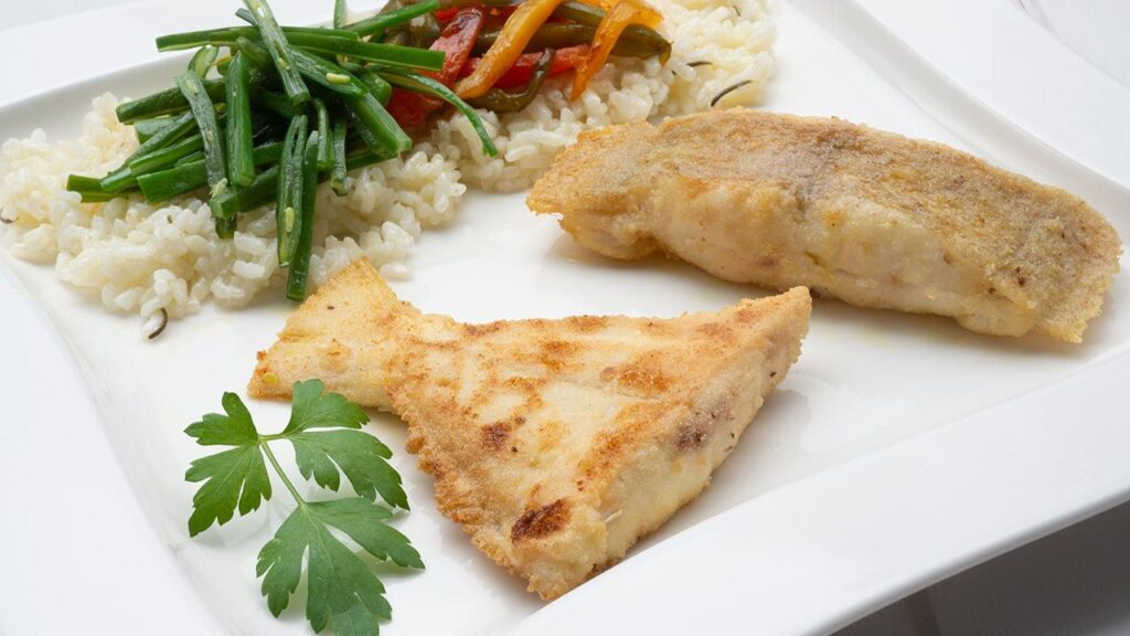 Recipe for fried gallo with green beans and rice with peppers - Carlos Arginiano