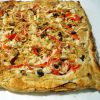 Surimi and anchovies Pizza recipe with puff pastry