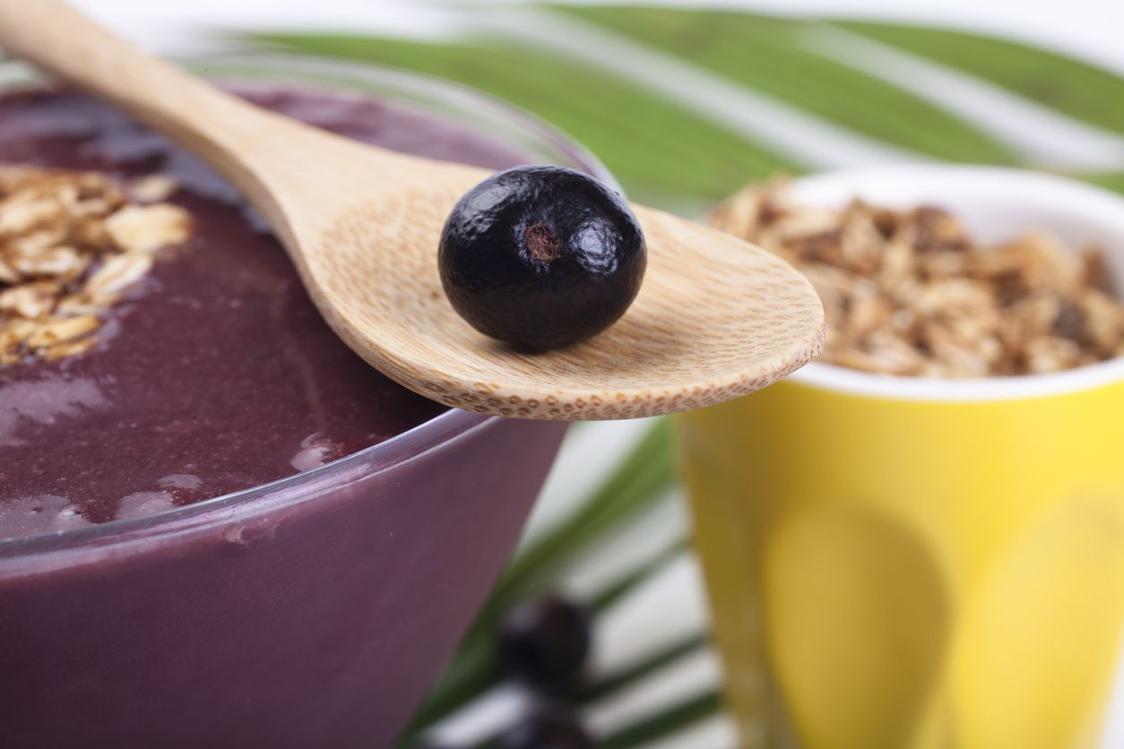 Acai is a purple berry, similar in appearance to grapes and with many health benefits.