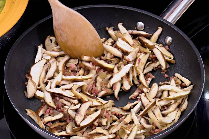 Add the mushrooms and boil them